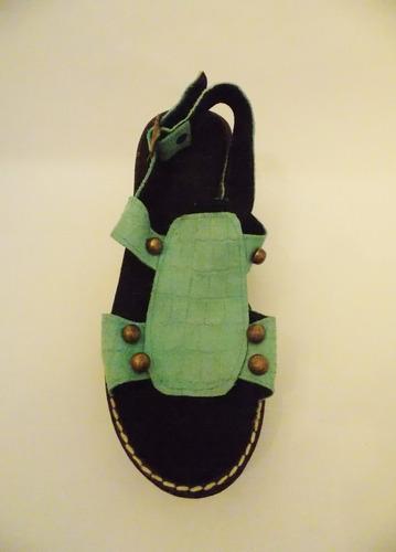 sandalias de cuero con tachas oferta último par