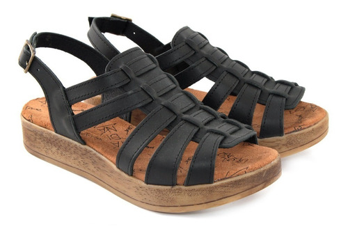 sandalias de cuero marca citadina juana