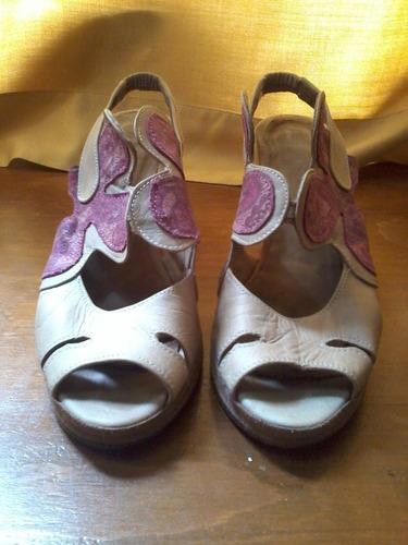 sandalias de cuero n°35 /36