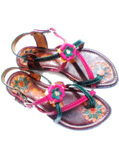 sandalias de cuero para dama, ventas al mayor y al detal