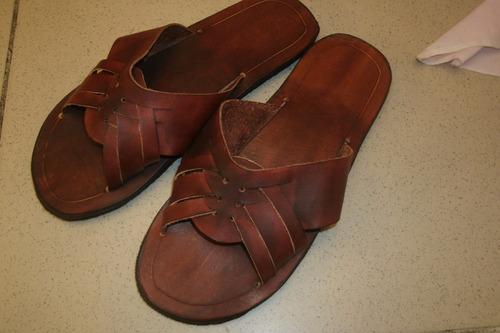 sandalias de cuero varios colores artesanales