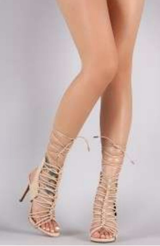 sandalias de dama romanas de tacón alto