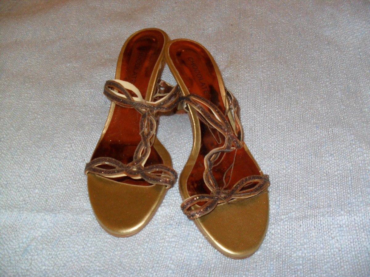 c7bc23754bc sandalias de fiesta color cobre marca chocolate divinas!!! Cargando zoom.