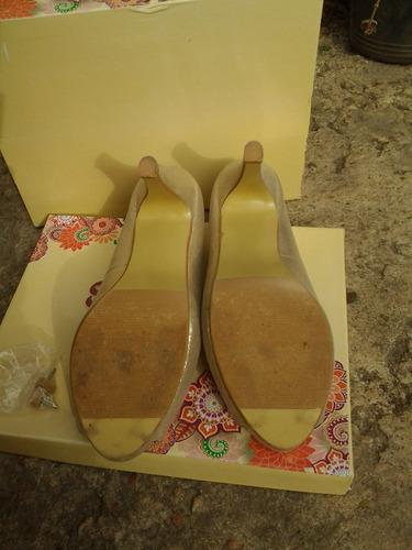 sandalias de fiesta doradas t38 1 solo uso impecables!!!