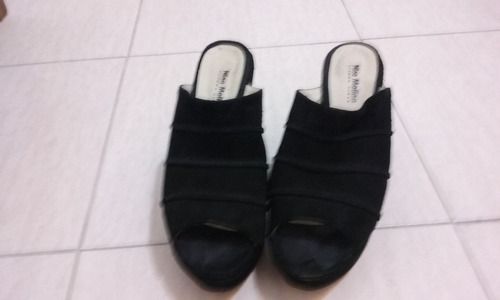 sandalias de gamuza - impecables