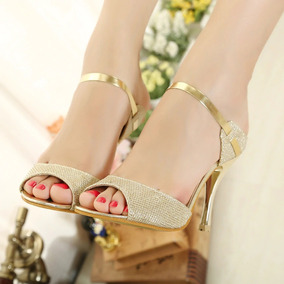 dea3e8cd1d Sandalias Femininas Festa Casamento Dourada - Sapatos Dourado no ...