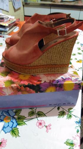 sandalias de mujer con plataforma talle 39 color coral