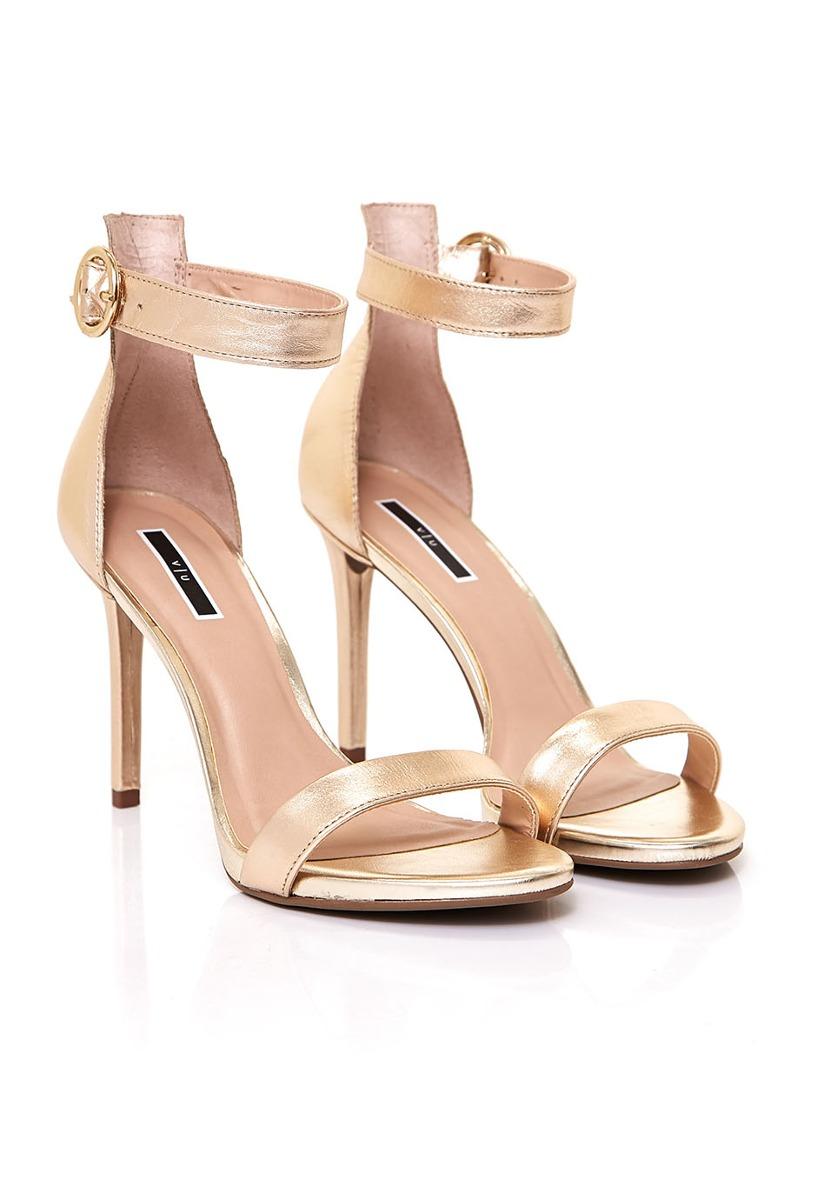 8820202bc80 sandalias de mujer fiesta via uno 17280620 metalizado dorado. Cargando zoom.