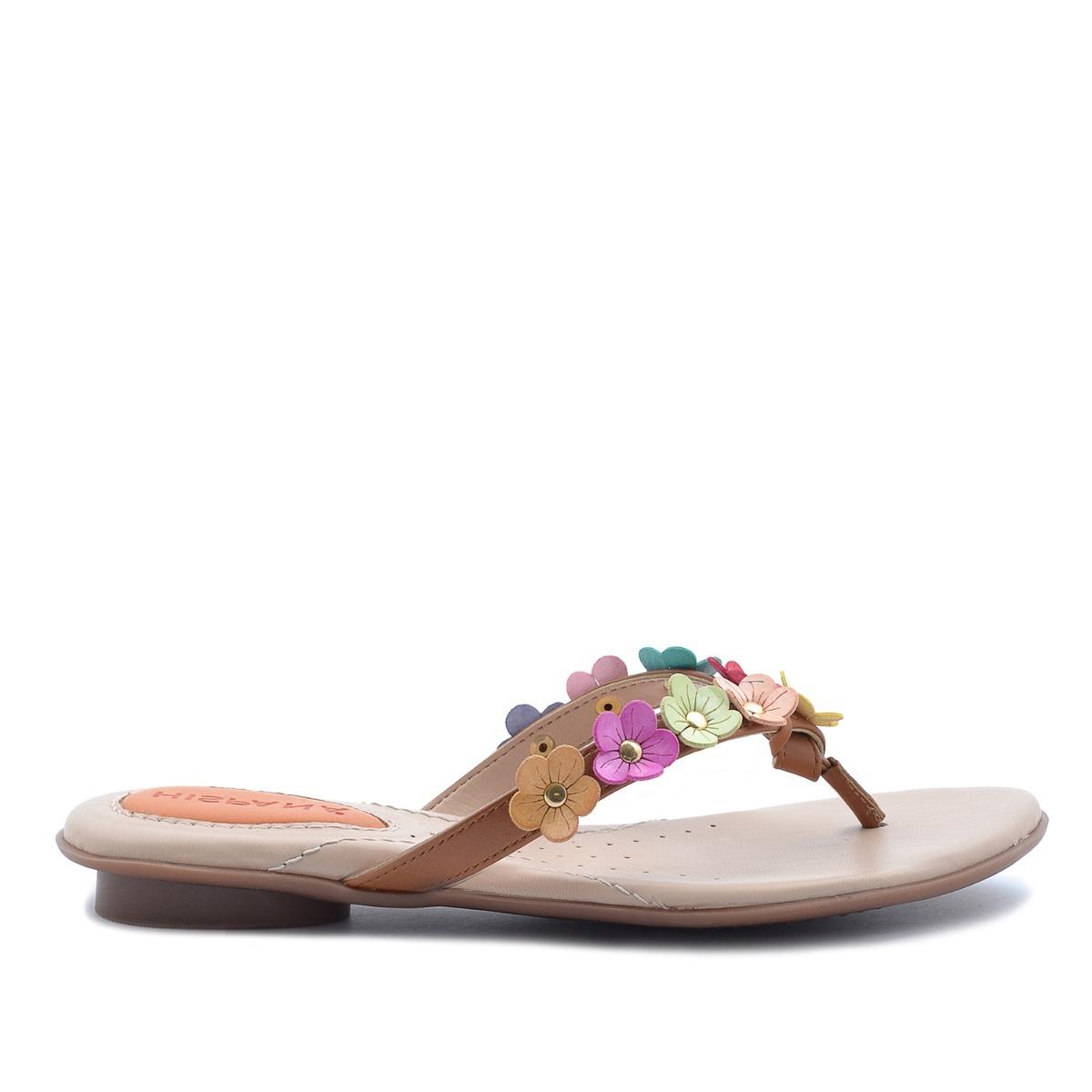 c01796cd sandalias de piso hispana belinda cuero-multicolor para dama. Cargando zoom.