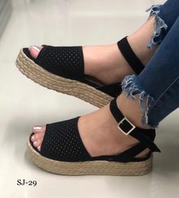 Para Plataforma De Cali Bajitas Mujer Colores Sandalias En Zapatos 67byYfg