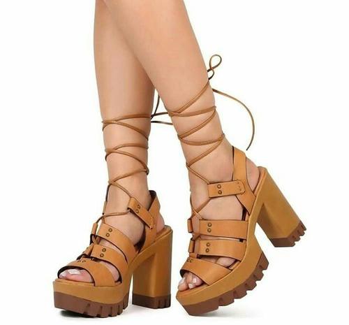 sandalias de plataforma de damas