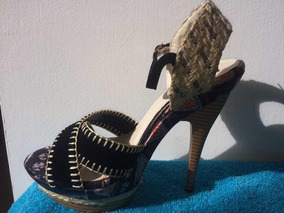 f15865f32d Sandalias Tacon Alto Plataforma Flores - Zapatos Mujer en Mercado Libre  Venezuela