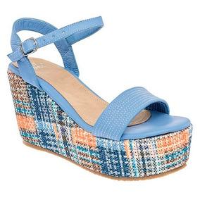Plataformas Mercado Verano Libre Zapatos Claro Azul Sandalias En L3Rjq4A5