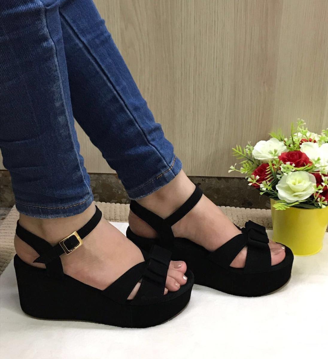 9f35583250175 sandalias de plataformas negras para mujer elegantes finas. Cargando zoom.