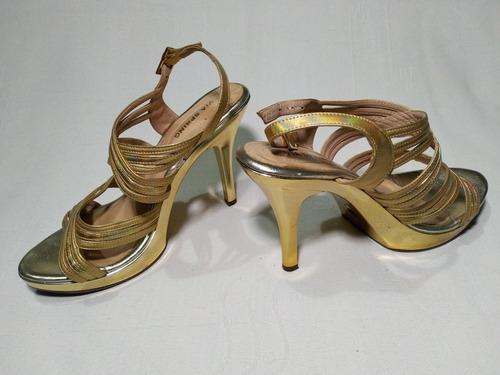 sandalias de tacon 12 cm talla 37 marca via spring