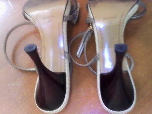 sandalias de tacón alto en excelente estado talla 37/38