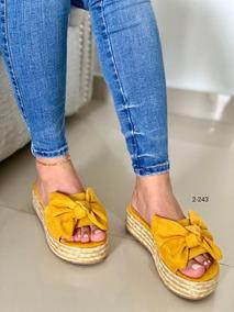 Sandalias Color Mostaza Yute De En m8nN0w