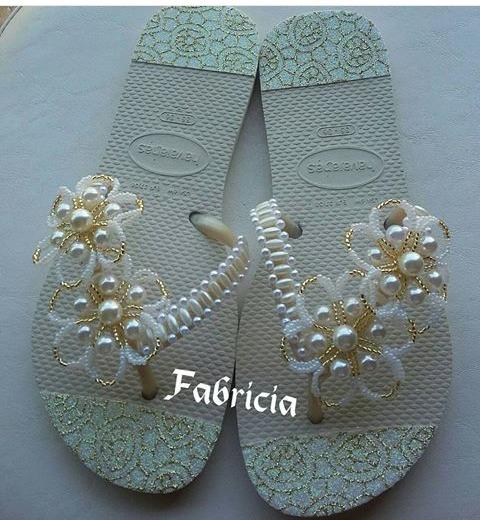 48f0c4704 Sandalias Decoradas Havaianas - R$ 50,00 em Mercado Livre