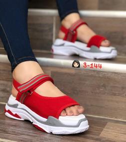 De Azul Zapatos Rojo Sandalias Deportivos Con En A Mujer Cu 6bvYyf7g