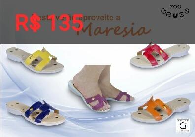 sandálias e sapatos magnéticos