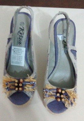 sandalias estampadas para dama altas con plataforma talla 37