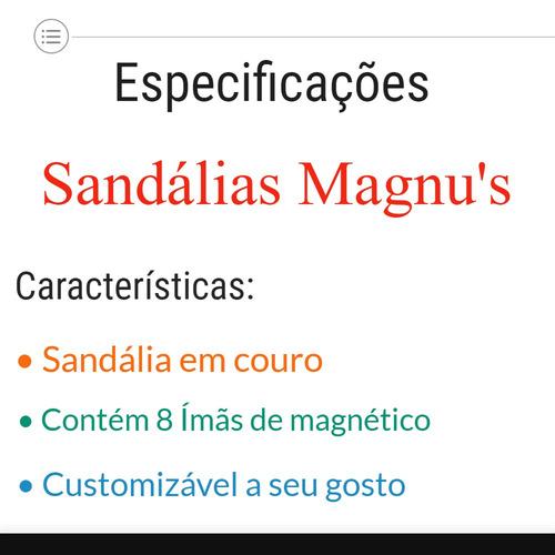 sandálias feminina magnética magnu's anabela 12x s/ juros
