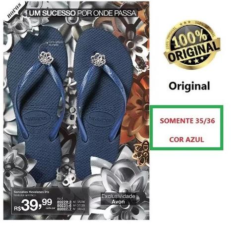 sandalias femininas havaianas legítimas original avon 35 36