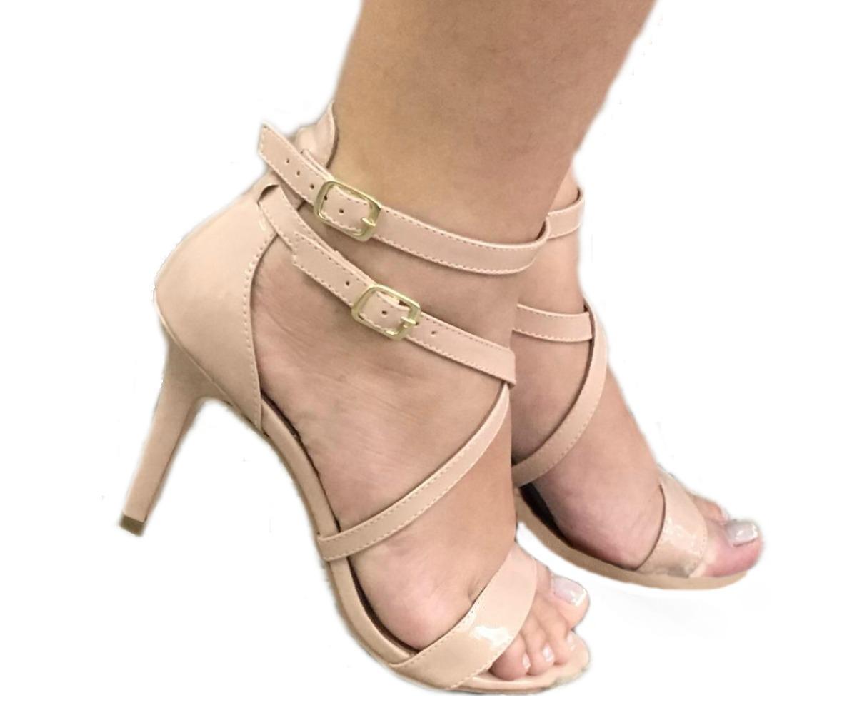 8b761fb60f sandalias femininas nude salto alto salto fino sapatos festa. Carregando  zoom.