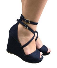 98aca9c79 Sandalia Meia Pata Jeans - Calçados, Roupas e Bolsas no Mercado Livre Brasil