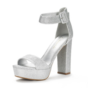 De Zapatos Plata Ojotas Mujer D Y Fiesta Sandalias bgf7v6Yy