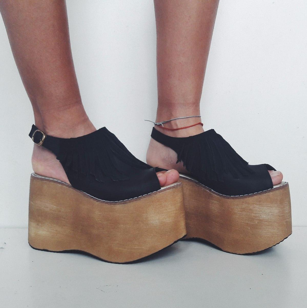 25f300c902 sandalias flecos altas plataforma mujer madera. Cargando zoom.