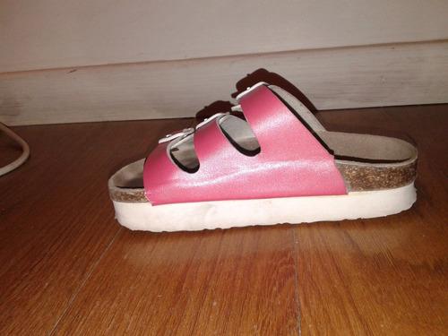 sandalias franciscanas plataforma nena, importadas talle 28