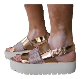 Y Blancas En Zapatos Doradas Sandalias Plataforma Becdxo Mujer 1KJlFcT3