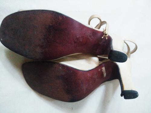 sandalias guido gabrielli en cabritilla nacarada- no envio