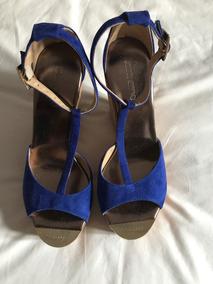 Jimmy Azul Impecables Choo 39 Electrico Sandalias nPym80wvNO