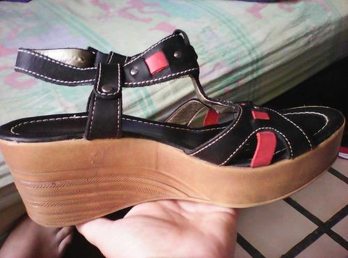 sandalias kickers negra talla38 de dama puro cuero