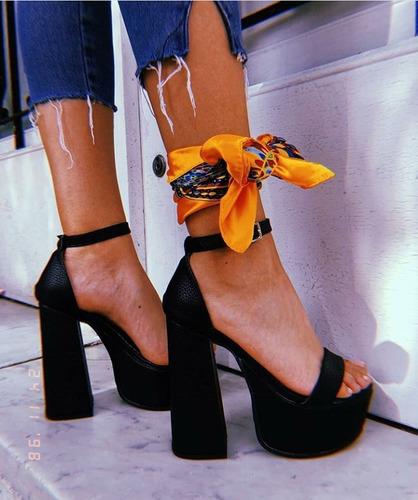 sandalias: lali black, taco 13,5cm