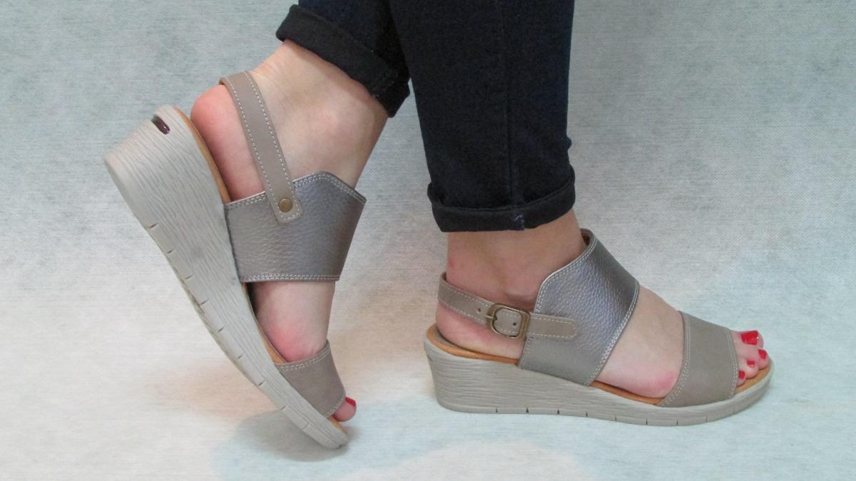 21ec07e7 sandalias mujer cuero muy comodas excelente calidad peltre. Cargando zoom.
