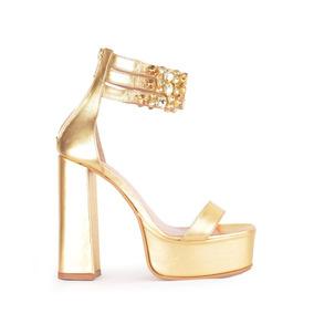 De Zapatos Sandalias Color 36 Talle Ivory Dorado Mujer En 0POk8nw