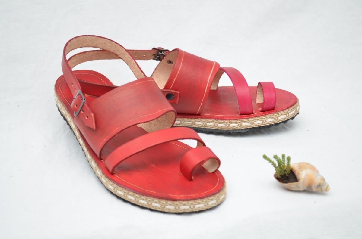 5561af76 Sandalias Mujer De Cuero Artesanales Verano 2019 - $ 850,00 en ...