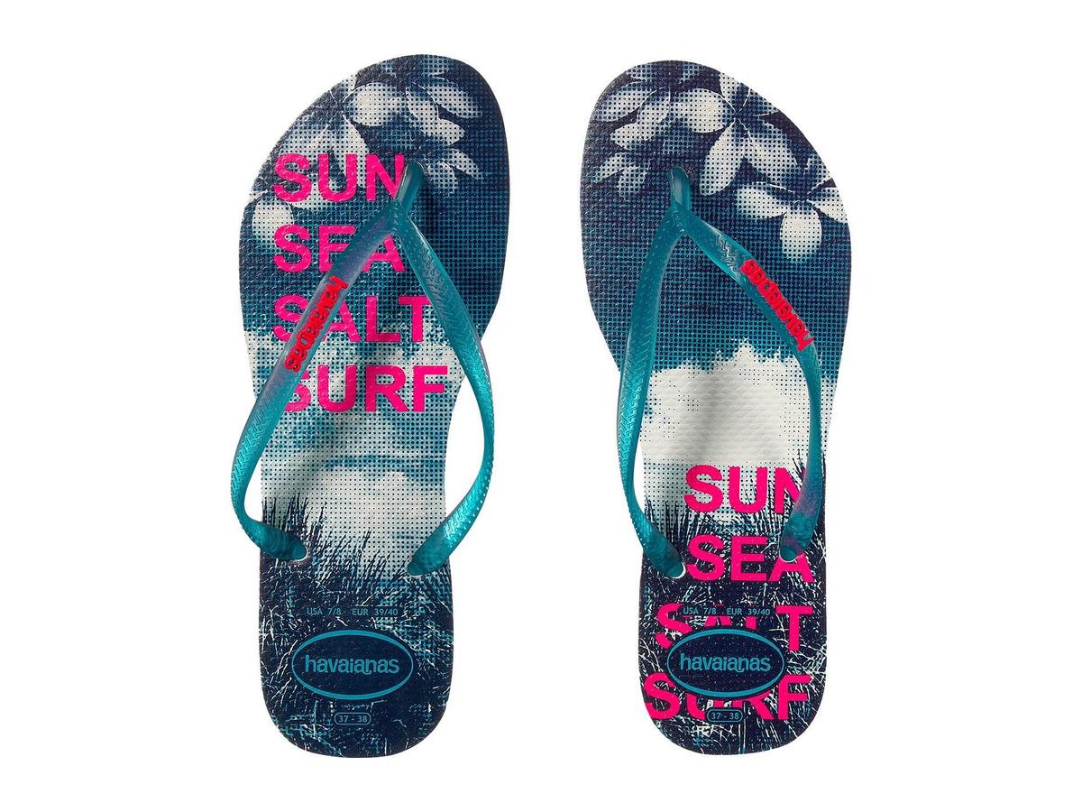 Sandalias Havaianas Flip Slim Mujer Flops Paisage fgY6vyb7