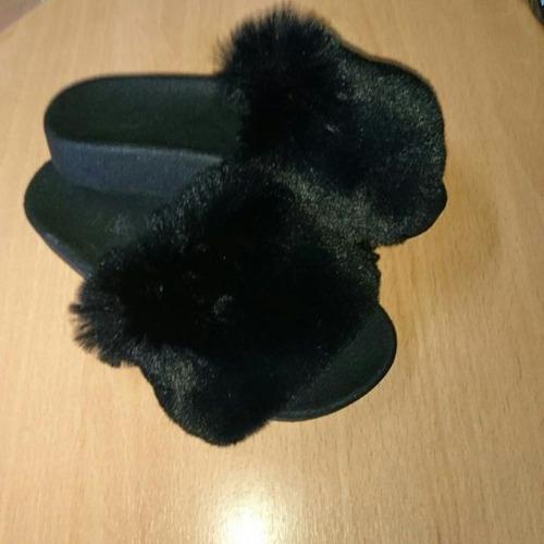 sandalias mujer peluche negras blancas y nude