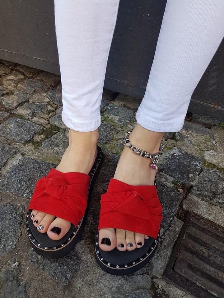 3741b614 sandalias mujer plataforma baja nudo comodas verano gamuza. Cargando zoom.