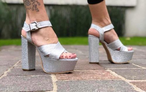 sandalias mujer plataforma con taco palo de calzadosoher