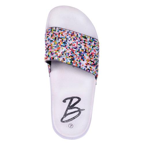 sandalias mujer punta abierta gigi-plinko colorida blanco