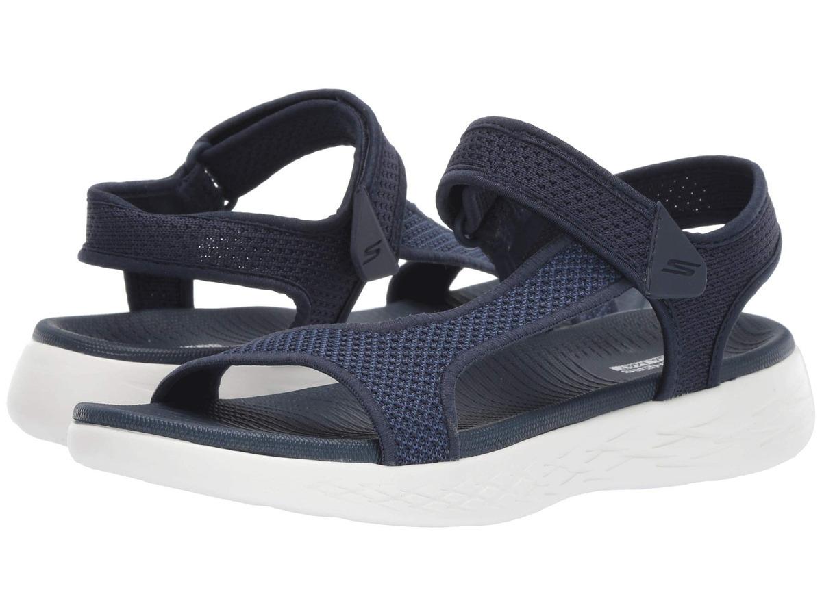 Zapatos duraderos Sandalia On The Go Beig Skechers Mujer
