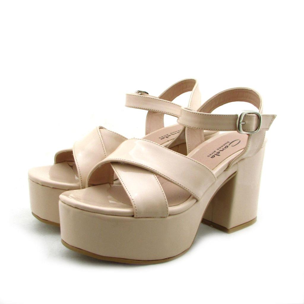6226cf1a sandalias mujer zapatos fiesta plataformas art 510 charol. Cargando zoom.