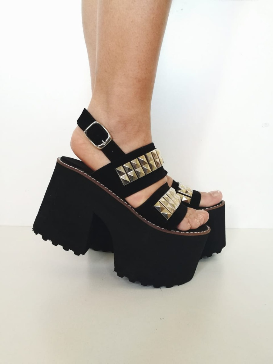 bd28c090337 Mujer Sandalias Eva Cargando Tachas Zoom Plataforma Goma Zapatos Alta FxfSOq