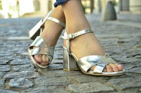 Zapatos Fiesta Bajo Mujer Cómodas Taco Sandalias Plateadas 3LAjq54R