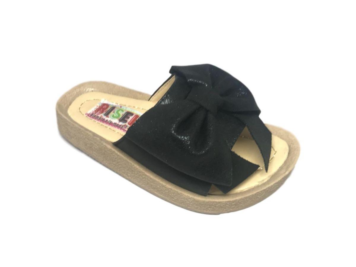 57a6e3ff5 Sandalias Negras Con Moño De Moda Para Niña. Envío Gratis -   319.00 ...